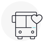 Bus Icon with Heart